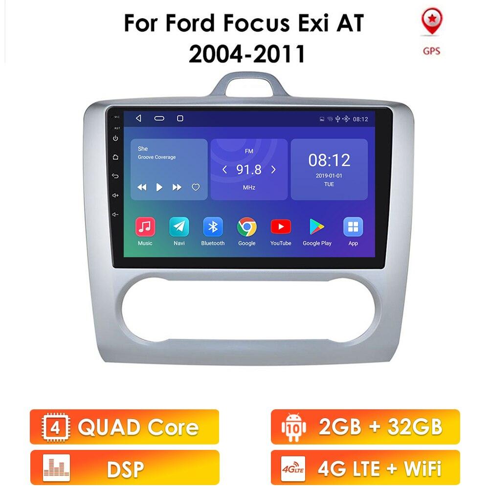 2 ГБ + 32 ГБ Android 10 для ford focus 2 Mk2 2004-2011 автомобильное радио, мультимедийный видеоплеер, навигация GPS 2 din