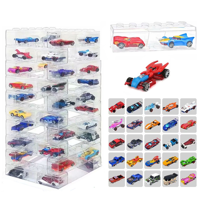 2020 New Kids Christmas Gifts Alloy Car Hobbies DIY Blocks Plastic Storage Box Diecast Vehicles Toys For Boys Children Birthday