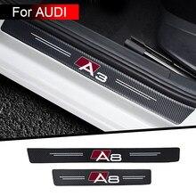 4pcs decorazione della porta dell'autoadesivo dell'automobile decorazione protettiva modificata per Audi A3 A4 A5 A6 A7 A8 Q3 Q5 Q7 Q8 accessori