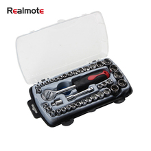 Realomte 40-piece sleeve combination set socket wrench household repair hardware tools