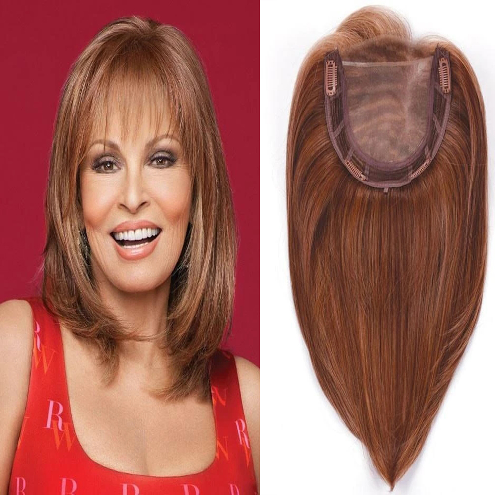 Toupee With Bangs Straight Human Hair Indian Hair Hand-made Topper Hairpiece Top Piece Comingbuy For Women