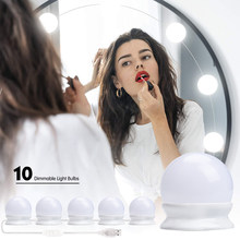 10 Bulb Hollywood Led Makeup Mirror Light Vanity Makeup Mirror Light 3 Colors Brightness Adjustable Make up Cosmetic Mirrors(China)