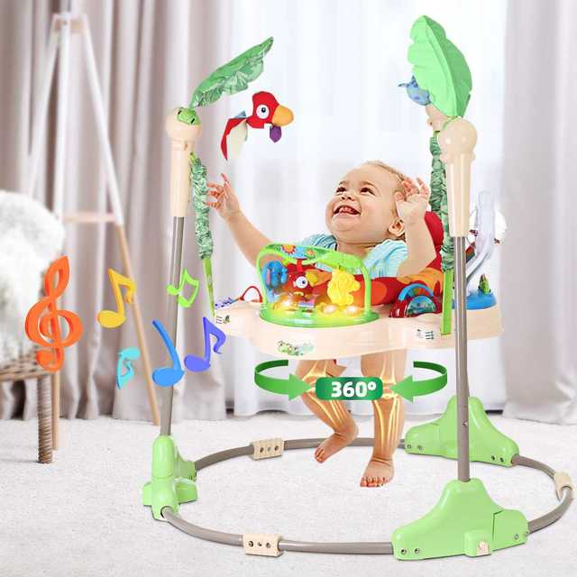 Multi-function Children Baby Bouncer Walker 6-24M Baby Gym Rack Cradle Baby Swing Rocking Chair for Newborm Baby Activity Gear 2