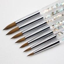 Profesjonalny zestaw pędzli do stylizacji paznokci do Manicure Rhinestone akrylowe pędzle malarskie zestaw lakier żelowy UV paznokcie podszewka Pen Gradient