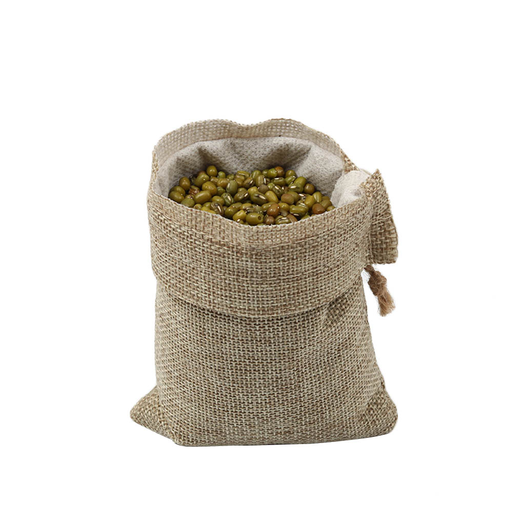 10pcs Drawstring Storage Bag Polyester Fibre Jute Gift Pouch Baby Shower Candy Jewelry Presents Burlap Sacks Party Supplies