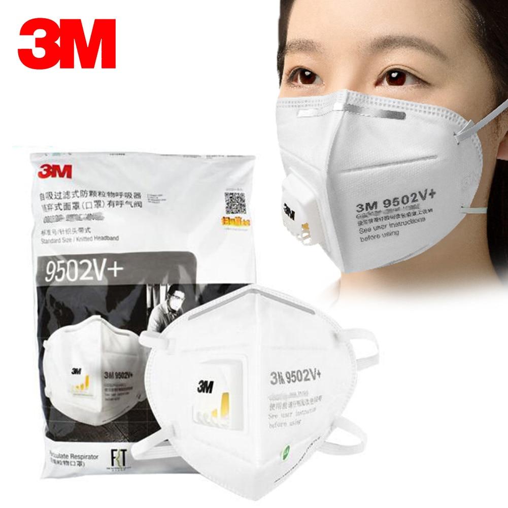 3/5/10PCS 3M Masks Particulate-Respirator Valve-Pm2.5 Dustproof with Haze Fog Outdoor Masks