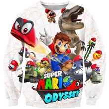 I bambini Super Mario Gioco Caldo Abbigliamento 3D Design ragazzi e ragazze Unisex Felpe Pullover Ragazzi Tute manica Lunga autunno Outwear