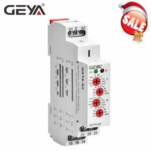 Relé temporizador de ciclo GRT8-S GEYA 12V temporizador de ciclo 16A relé de repetición electrónico 24V AC relé 220V AC relés