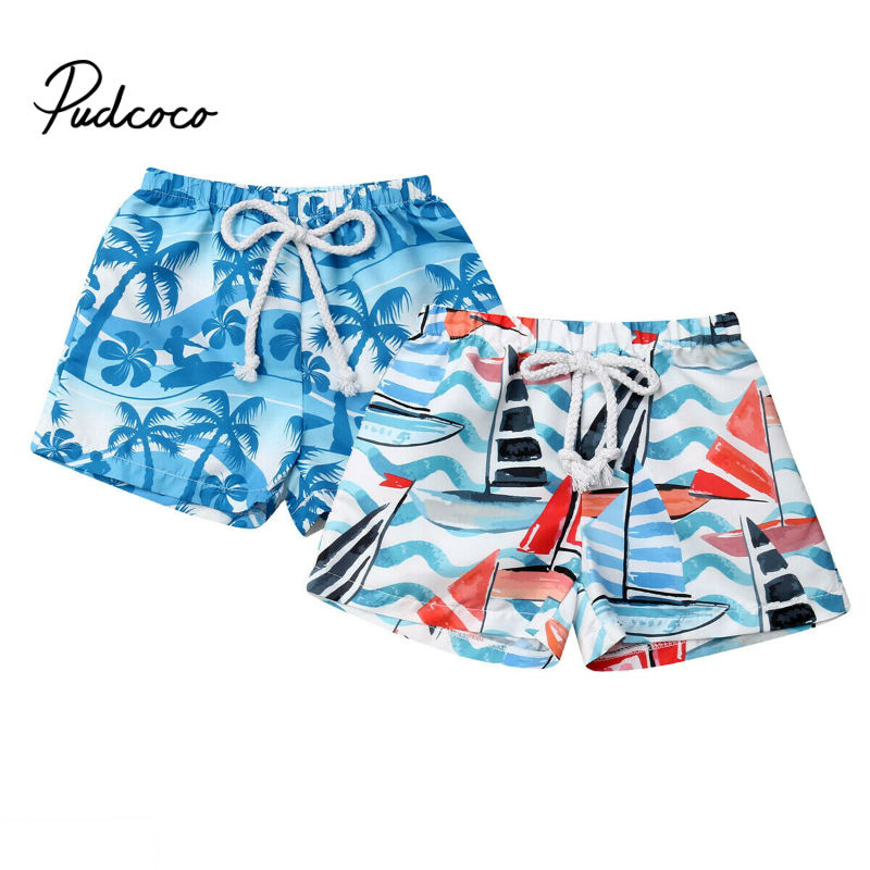 Beach Swimwear Shorts Ages 6M To 4Y Boys Baby Kid Child Swimming Trunks Swimsuit Summer Swim Wear Cartoon Printed Toddler Hot