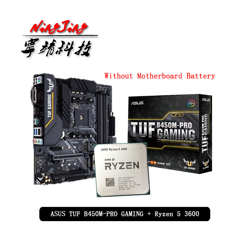 AMD Ryzen 5 3600 R5 3600 CPU + Asus TUF B450M PRO GAMING Motherboard Suit Socket AM4 CPU + Motherbaord Suit Without cooler|Motherboards| - AliExpress