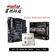 AMD Ryzen 5 3600 R5 3600 CPU + Asus TUF B450M PRO oyun anakart takım soket AM4 CPU + anakart takım elbise olmadan soğutucu