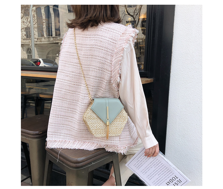H01f206e1227d4d538c3233d2ac796ddek - Mulit Style Straw leather Handbag Women Summer Rattan Bag Handmade Woven Beach Circle Bohemia Shoulder Bag New Fashion