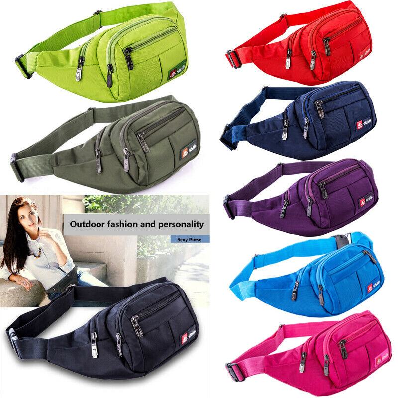 Women Fanny Pack 2018 Waist Bag Men Oxford Bum Bag Hengreda Lightweight Hip Bag Sling Bag With 3 Zipper Pockets For Travel