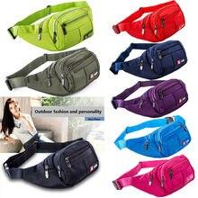 Women Fanny Pack 2018 Waist Bag Men Oxford Bum Bag Hengreda Lightweight Hip Bag Sling Bag with 3 Zipper Pockets for Travel striped design zipper front bum bag