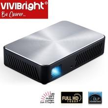 VIVIBRIGHT Full HD proyector J10, 1920x1080P, Android, WIFI, HD in. Batería de 6000mAH, MINI proyector portátil 1080p cine en casa