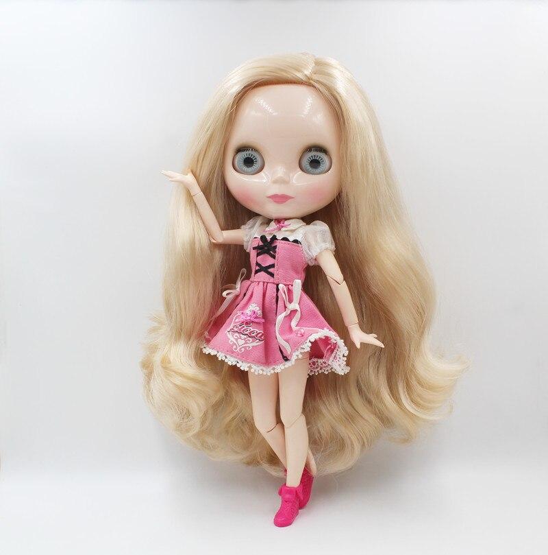 Livraison gratuite grande remise RBL-779J bricolage Nude Blyth poupée cadeau d'anniversaire pour fille 4 couleur grand oeil poupée avec de beaux cheveux mignon jouet