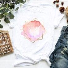 Graphic Tee White Tshirt Women Short-Sleeve Flower-Print Casual Cotton ZOGANKIN Heart
