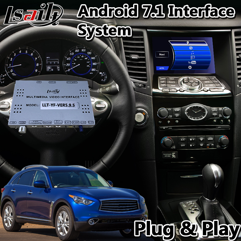 Lsailt Android Car GPS Navigation Interface for Infiniti QX70 2014 2019 Year support Wireless carplay and adas Vehicle GPS     - title=