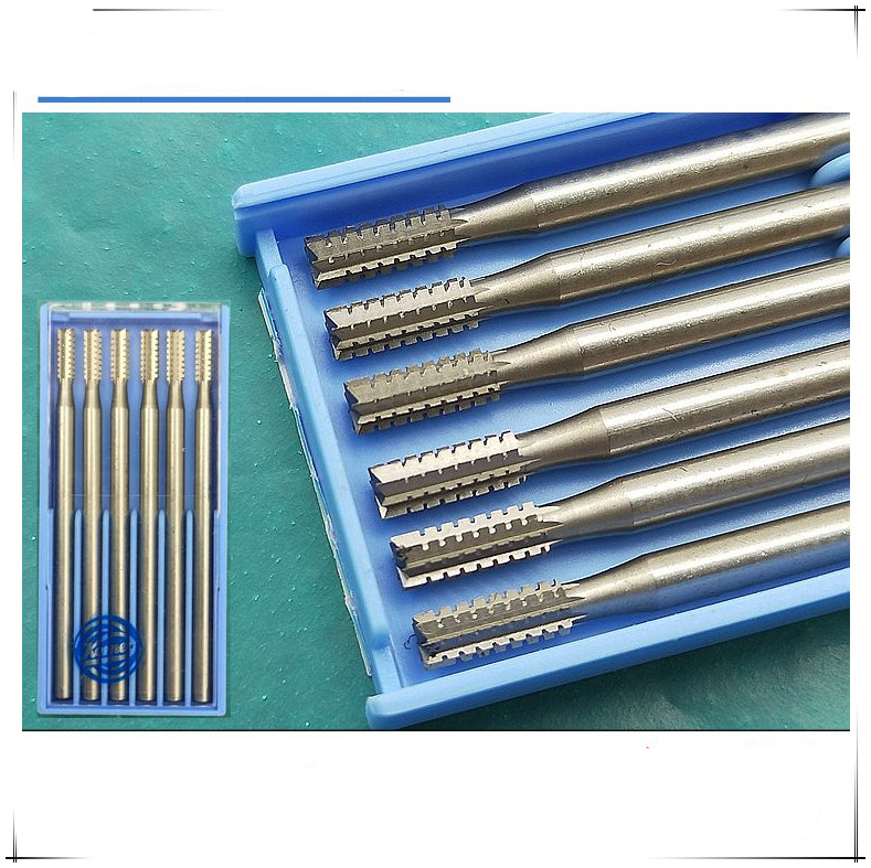 Free Shipping Jewelry Carving Burs Jewelry Polishing Tool Cylinder Steel Bur Goldsmith Tools 6pcs