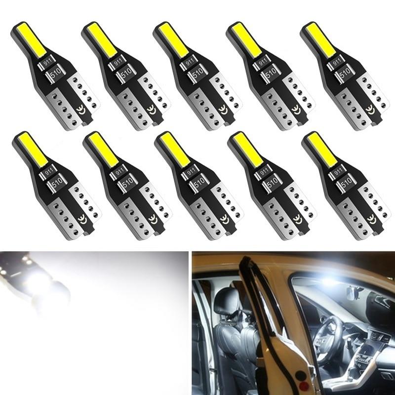 10pcs T10 LED W5W Led Bulb 194 168 Car Interior Bulb Light For BMW 3 5 7 Series E32 E90 E34 E36 E38 E39 E46 E53 E60 E65 E66 E90