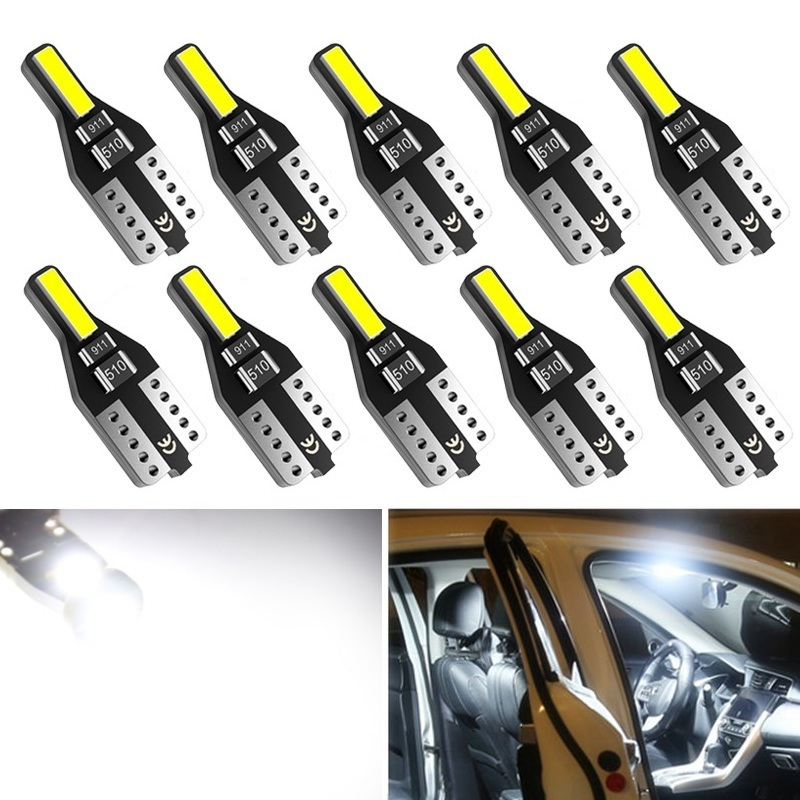 10pcs T10 LED W5W Led Bulb 194 168 Car Interior Bulb Light For <font><b>BMW</b></font> 3 5 7 Series E32 E90 E34 E36 E38 E39 E46 E53 <font><b>E60</b></font> E65 E66 E90 image