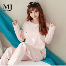 X133 пижама женская ночная сорочка пижамный комплект женский Sleepwear Women Pyjama Set WomenS Thin Section Home Service Two-Piece Suit Autumn Long Sleeve Pajamas Cute Pink 2019