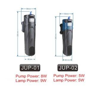Image 2 - 220V Aquarium UV Sterilisator Filter Pomp 4 in 1 Sunsun Aquarium UV Lamp Interne Filter Beluchting Watercirculatie pomp 5 W/8 W
