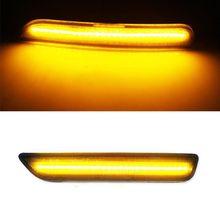 цена на 2Pcs Front Side Marker Lamps Amber LED Light For Ford Mustang Front Bumper 10-14 U1JF