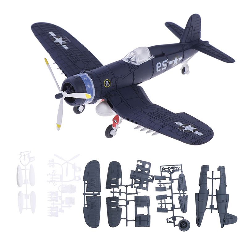 Assemble Fighter Ww2 Military Aircraft Model Toys Building Tool Sets Flanker Combat Aircraft Diecast Birthday Gift For Children