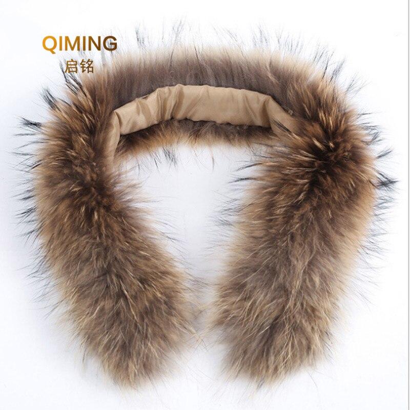 100% Natural Genuine Fox Fur Scarves Collar Accessories Real Fox Fur Collars Female Raccoon Fur Collar Winter Scarf Women 70CM