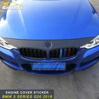 GELINSI For BMW 3 Series F30 2012 2018 Auto Car Front Engine Hood Cover Creative 3D Sticker Trim Frame Exterior Accessories