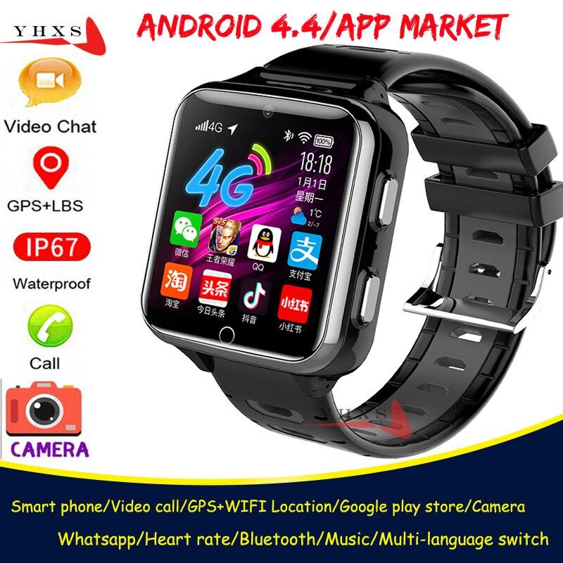 スマート 4 3G GPS WIFI 子供大人学生トレーサーロケータ腕時計ビデオ通話心拍数モニターデュアルカメラブルートゥースアンドロイド時計|スマートウォッチ| - AliExpress