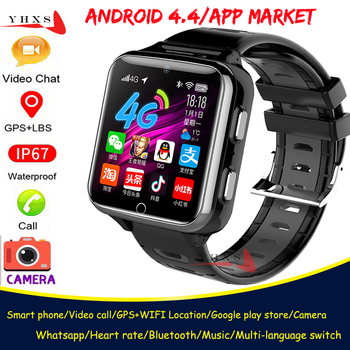 Smart 4G GPS WIFI Kid Adult Student Tracer Locator Wristwatch Video Call Heart Rate Monitor Dual Camera Bluetooth Android Watch