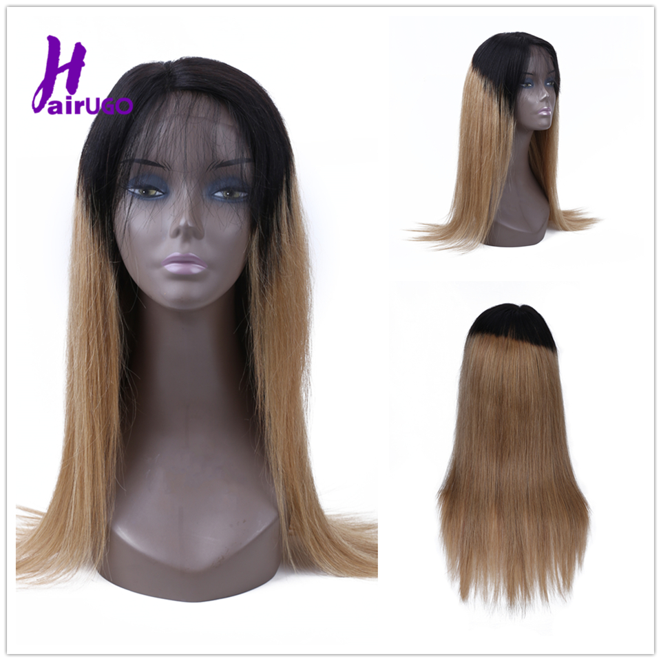 Malaysian Straight Lace Closure Human Hair Wigs With Pre Plucked Hairline Remy HairUGo Straight Lace Closure