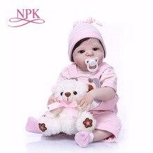 NPK 57 см силиконовая кукла игрушки кукла-ребенок натуралистичные куклы в виде новорожденных младенцев игрушки для девочек тело для детей Рождество или подарок на день рождения игрушка для ванной