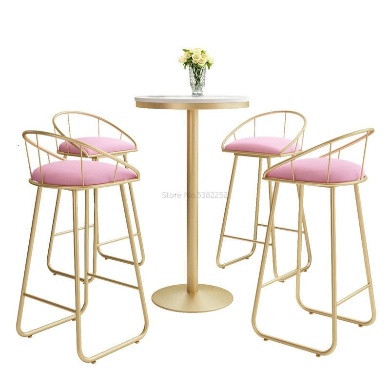 Bar Chair, Golden Iron Bar Chair, Simple Bar, Coffee Shop, Metal High Back Chair
