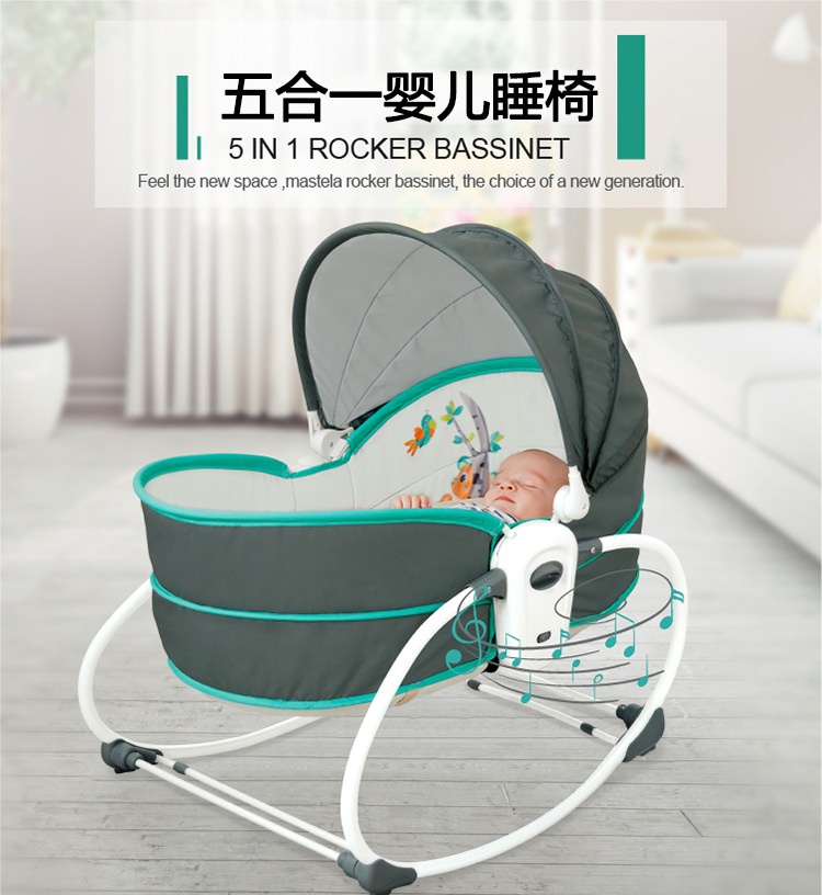 H01f36a7067ad4abdbc72879252fb4b92F Baby Furniture Cradle 5 in 1 baby rocking bed Baby Cradle rocking chair baby recliner portable baby basket baby crib babynest