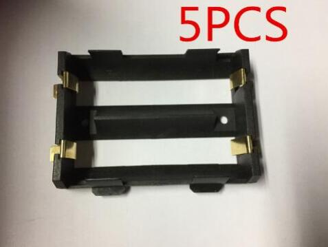 5Pcs/lot High Quality 2 X 26650 Battery Holder SMD With Bronze Pins 26650 Battery Storage Box TBH-26650-2C-SMT