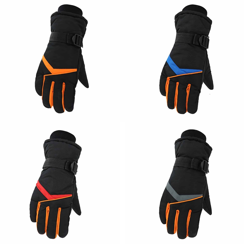 Skiing Gloves Full Finger Thick Water Resistant Thermal Handwear Outdoor Winter Motorcycle Riding Cycling Sportswear Accessories|Skiing Gloves| |  - title=