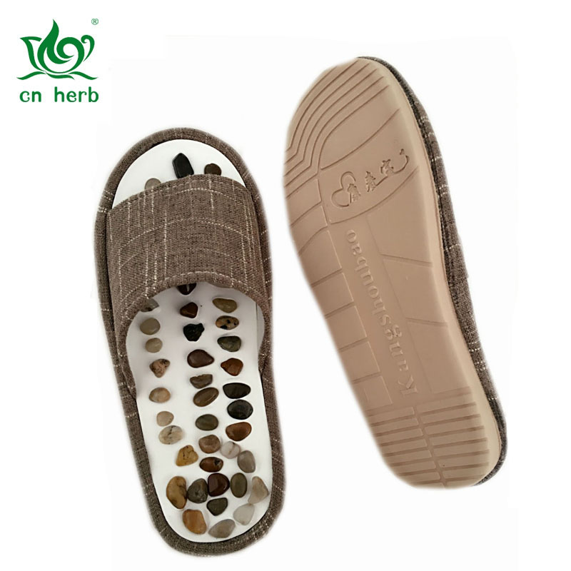 Cn Herb Massage Slippers, Home Care Pebbles Environmental Silicone, Men And Women Sandals