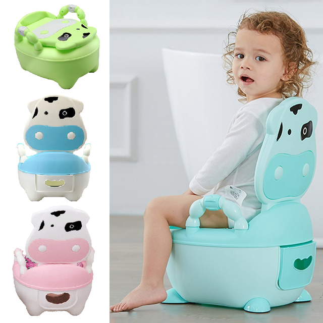 $ US $11.53 Baby Potty Seat Kids Urinal Cushion Toilet Portable Multifunction Travel Chair Pots Children's Urinal Training Cute Safety Potty