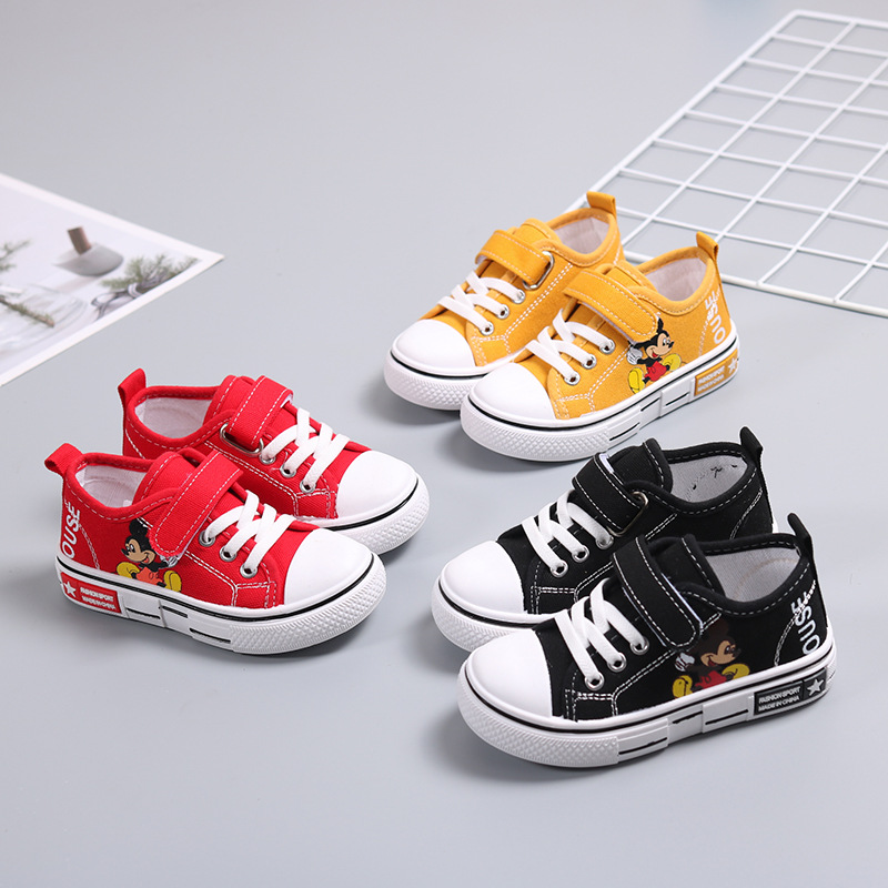 Children Canvas Shoes Spring New Cartoon Boys Girls Casual Shoes Soft Bottom Anti-Slippery Kids Shoes Unisex