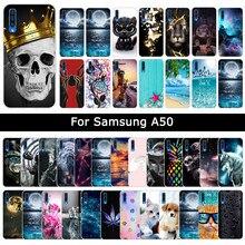 Capa para samsung galaxy a50 a 50 colorido gato impressão capa protetora macio tpu silicone casos para galaxy a50 fundas coque capa