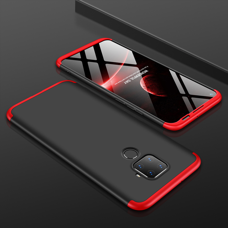 For Huawei Nova 5i Pro Case 360 Degree Full Body Hard Cover Case For Huawei Mate 30 Lite Hybrid Shockproof Case + Glass Film