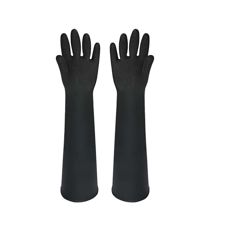 55cm Rubber Protective Gloves And Long Anti-chemical Industrial Latex Gloves Acid And Alkali Resistant Gloves