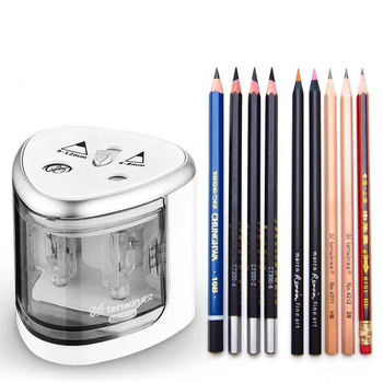 2019 New Automatic pencil sharpener Two-hole Electric Touch Switch Pencil Sharpener stationery Home Office School Supplies недорого