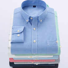 men shirt plus size solid color spring casual shirts oxford Tuxedo Long Sleeve Slim Fit Striped