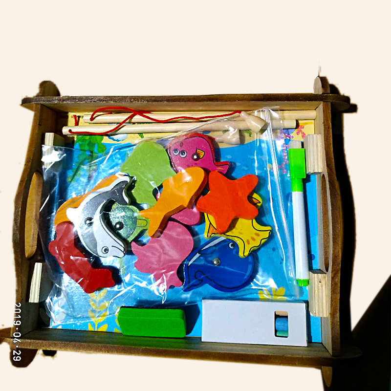 Educational ENLIGHTEN Early Education CHILDREN'S Toy Multi-functional Magnetic Oceans Fishing Animal Jigsaw Puzzle Drawing Board