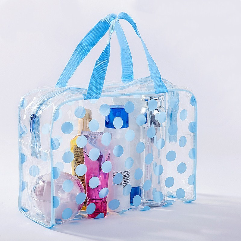 Waterproof Swimming Bags Sports Travel Bathing Storage Bag Women Transparent Organizer PVC  Bath Bag