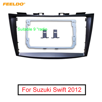 FEELDO Car Audio 9 Big Screen 2DIN Fascia Frame Adapter For Suzuki Swift Stereo Dash Fitting Panel Frame Kit #MX6204 image